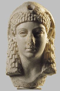 Cleopatra VII, Queen of Egypt, lover of Caesar and Anthony, born 69-70 B.C. in Egypt, died 30 B.C. possibly suicide by snake bite (asp) after the death of Mark Antony.