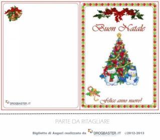 bigliettino per Auguri di Buon Natale