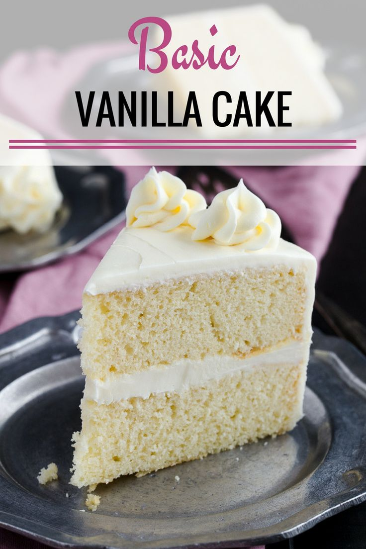how to make a basic vanilla cake from scratch