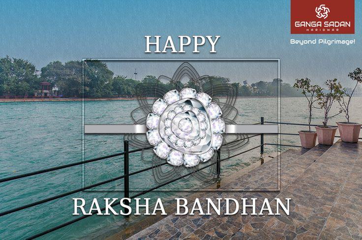 """Happy Raksha Bandhan"" wishes from Hotel GangaSadan, Haridwar"