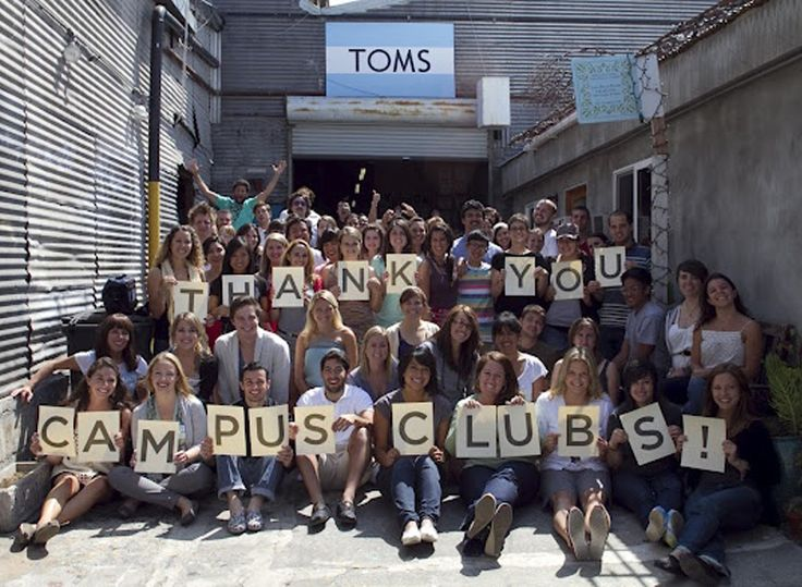 It's with a lot of help from #students, #educators and others on campuses far & wide that we're spreading the word about One for One...so, #thanks! // #campus #OneforOne #TOMS #student #college #highschool #club #program #university