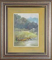 Sale 8008 - Lot 699 - John Robert Lovett (1953 - ) - Upper Tweed 29.5 x 22cm