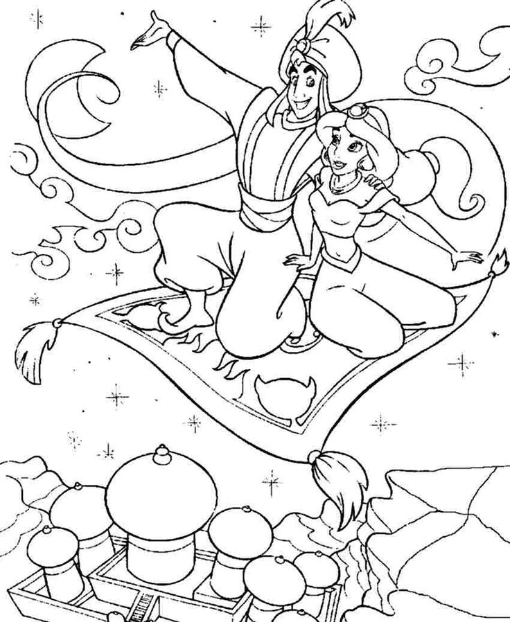 disney princess aladdin colouring sheets free printable for boys & girls