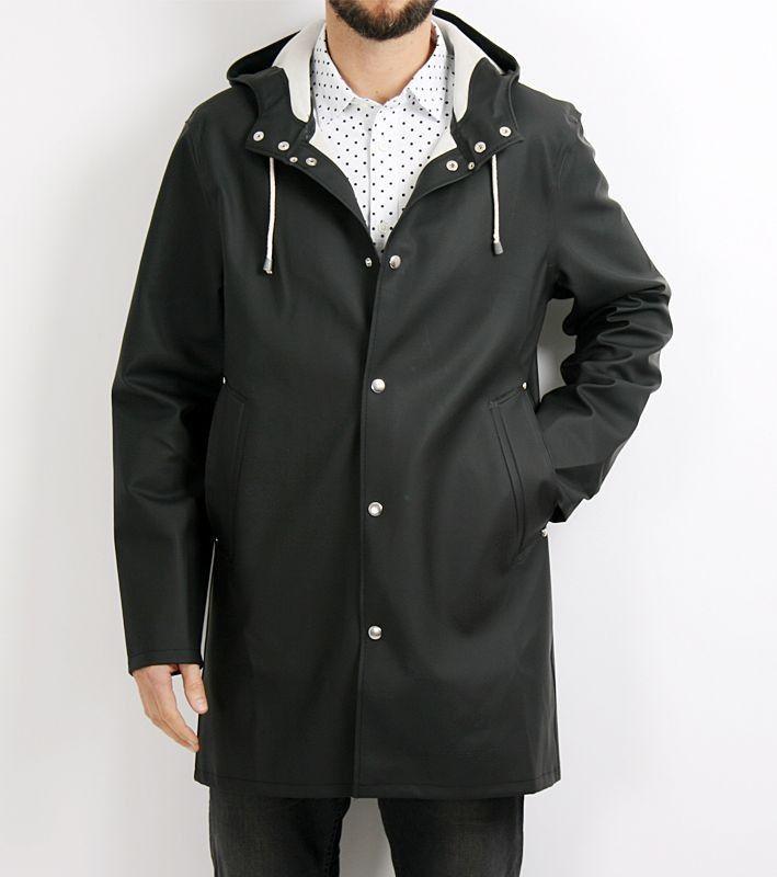 Stockholm Black raincoat