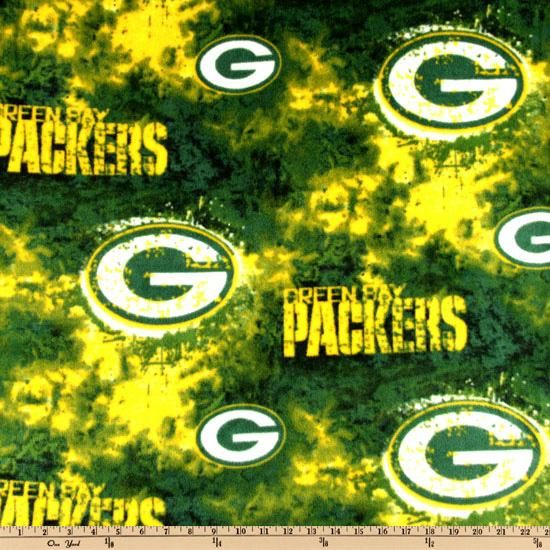 NFL Fleece Green Bay Packers from @fabricdotcom  Cheer on the Packers, your favorite NFL team with this NFL fleece! With an anti-pill face this soft, warm and cozy fleece is perfect for throws, stadium blankets, seat cushions, hats, scarves, pillows, vests, pullovers and much more!