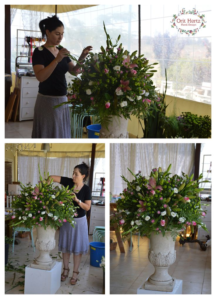 Orit Hertz - Floral Design School. Private lesson to Ayala