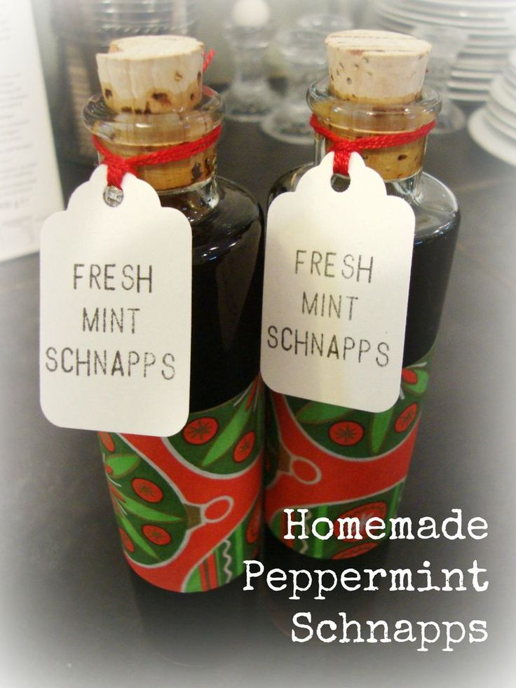 How to make your own peppermint schnapps....makes a great holiday gift!