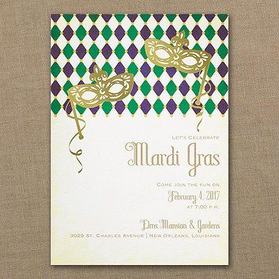 Marvelous Mardi Gras - Invitation