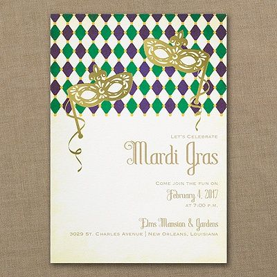 Marvelous Mardi Gras - Invitation
