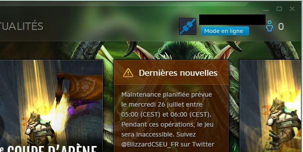 "Offline mode ? I woke up my computer from sleep mode today and the ""connect button"" says ""online mode"" now. (French battle.net app) #worldofwarcraft #blizzard #Hearthstone #wow #Warcraft #BlizzardCS #gaming"