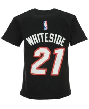 adidas Toddlers' Hassan Whiteside Miami Heat Name And Number T-Shirt - Black 2T