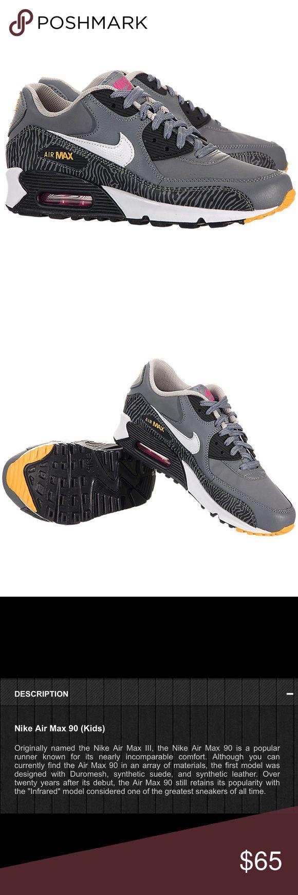 Nike Air Max 90 Size 7 boys or 81/2 girls Nike Air Max 90 zebra print EUC Nike Shoes Sneakers