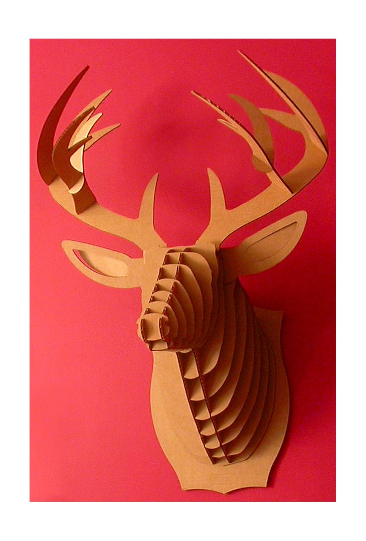 1000 ideas about cardboard deer heads on pinterest for Free cardboard taxidermy templates