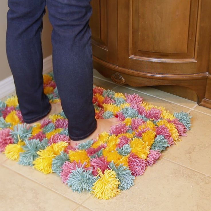 This Fluffy Pom Pom Rug Is Cozy Af Your Pinterest Likes
