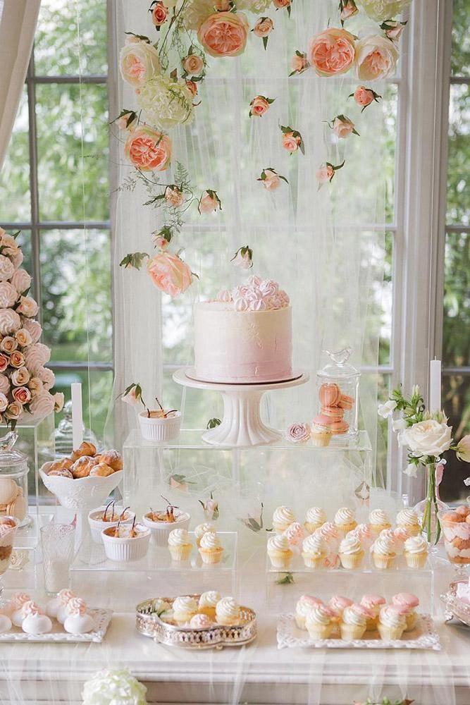 Pink Wedding Dessert Table Decor Wedding Weddings Weddingideas Hmp Himisspuff Candy Bar Wedding Sweet Table Wedding Wedding Dessert Table