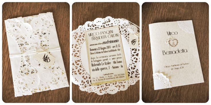 Lace wedding invitation and Mass booklet