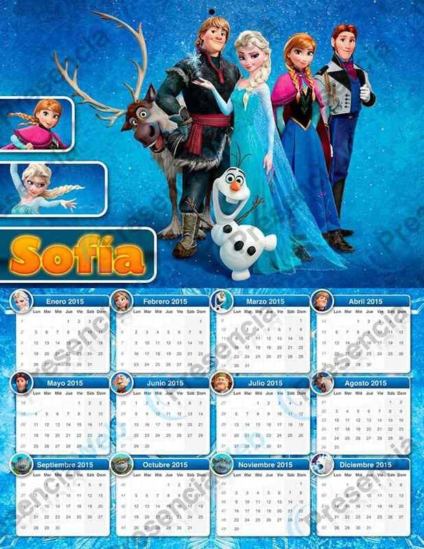 Calendar Craft 2015 : Creative character monthly frozen printable calendar
