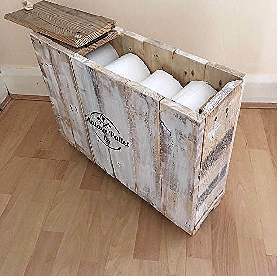 Badezimmer Aufbewahrungsbox Rustikaler Shabby Chic Toilettenpapierhalter Box B In 2020 Bathroom Storage Boxes Shabby Chic Toilet Roll Holder Rustic Shabby Chic