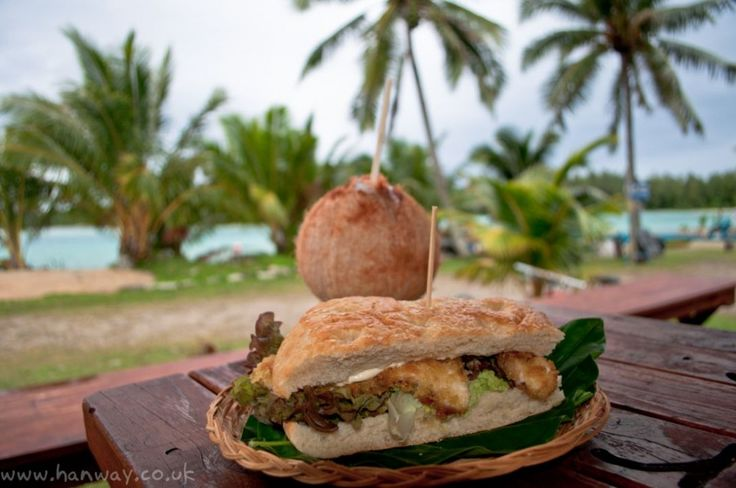 Mahi Mahi Burger and Coconut - Rarotonga