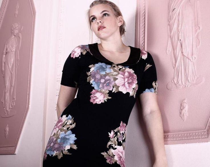 Kleider - NARA ®  geblümtes Sommerkleid mit Bubikragen - ein Designerstück von Berlinerfashion bei DaWanda
