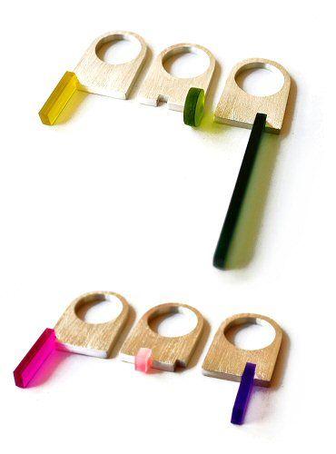 Cova Ríos / Lisa Stephen / Marie Godfrey - The Carrotbox Jewelry Blog - rings, rings, rings!