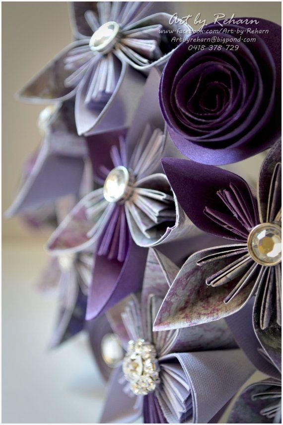Paper Flower Bridal Table Flowers