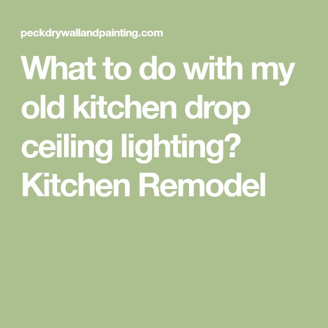 What to do with my old kitchen drop ceiling lighting? Kitchen Remodel