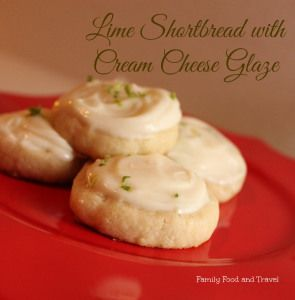 Lime Shortbread Cookies with Cream Cheese Glaze #GayLeaFoods - Family Food And Travel