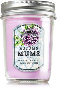 Autumn Mums Mason Jar Candle - Home Fragrance - Bath & Body Works
