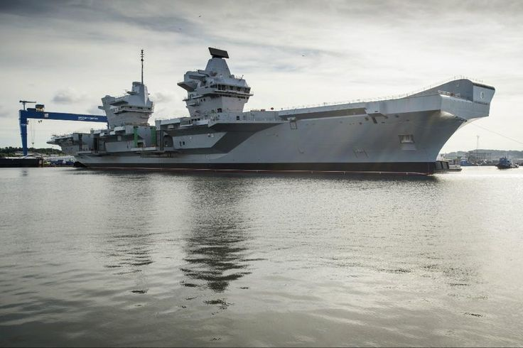 The new British aircraft carrier HMS Queen Elizabeth. The biggest ship in the history of the Royal Navy.