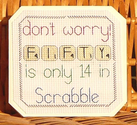 50th Scrabble Birthday Card, Cross Stitch Kit 14 Count No. 081                                                                                                                                                      More