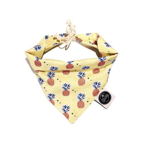 Dog Tie Bandana / Chien bandana noeud L'ANANAS by KLAUSINGSHOP