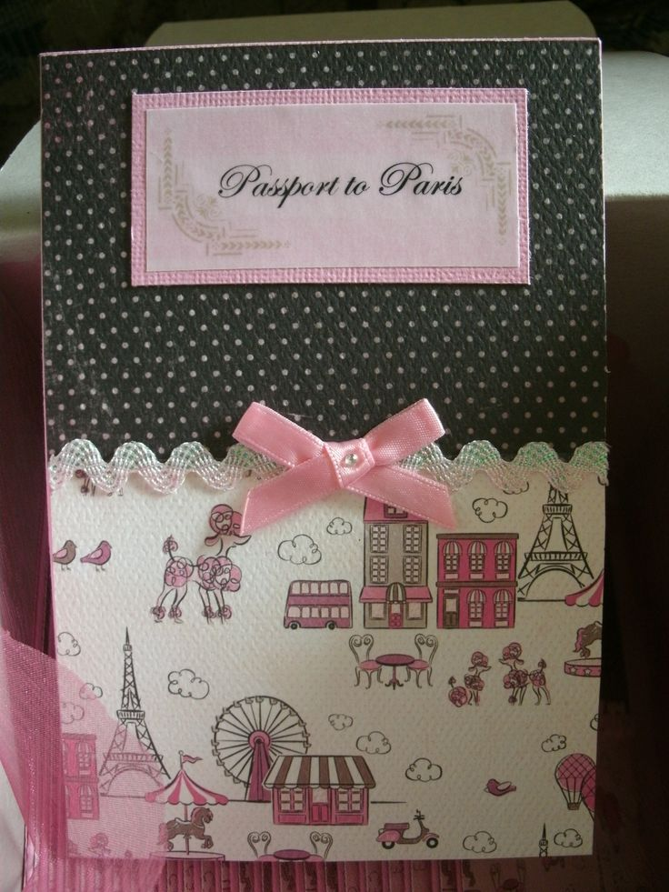Passport to Paris Invitation