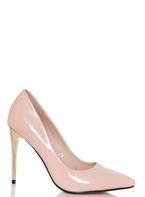 Womens *Quiz Pink Patent High Heel Court Shoes- Pink