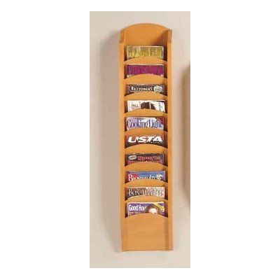 Transitional Series Pocket Magazine Rack Finish: Walnut, Size: 7 Pockets  Tasteful Lenox Group Blends With Existing Office Decor.