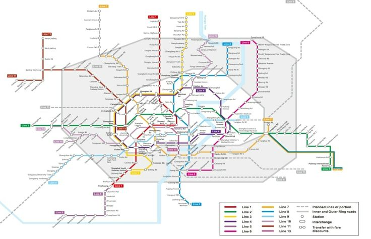 Shanghai Metro Map including Maglev. One of the best intricate ones in the World.