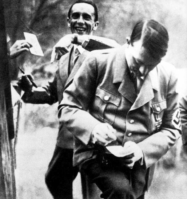 Hitler and Goebbels.