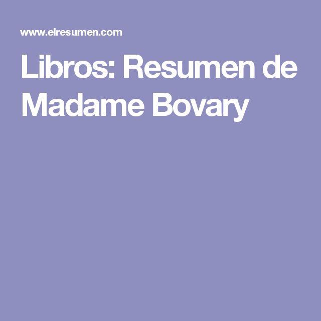 Libros: Resumen de Madame Bovary