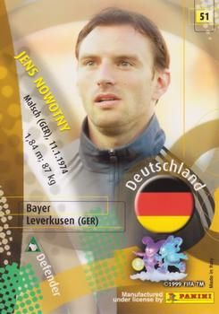 2002 Panini World Cup #51 Jens Nowotny Back