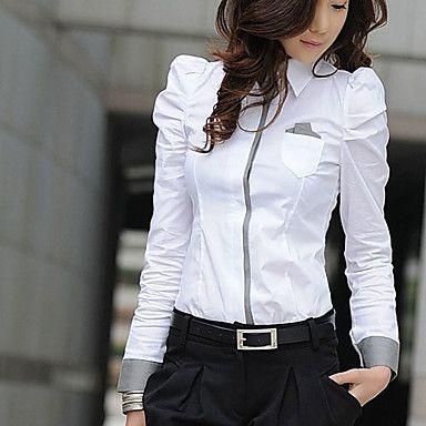 RR&TT女性の秋の古典的な長袖白シャツ – JPY ¥ 1,488