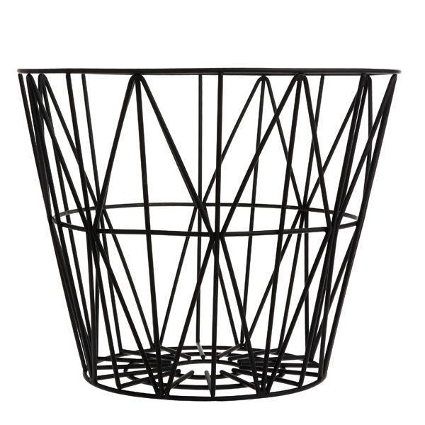 Wire basket, black, by Ferm Living.