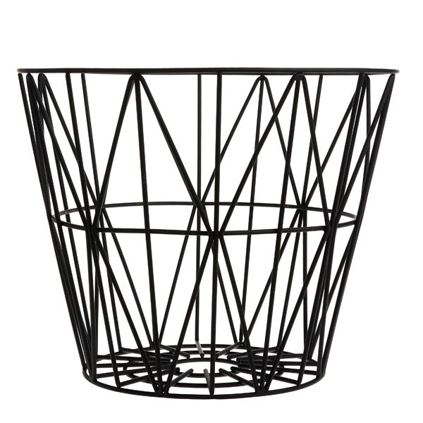 Wire basket, black, by Ferm Living.