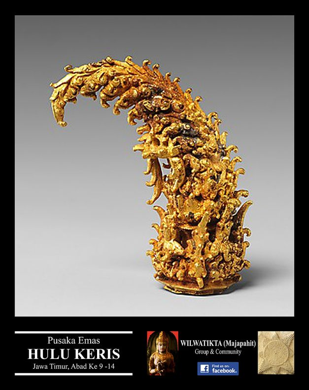 Hulu Keris Emas, Abad Ke 9 – 14, Jawa Timur | WILWATIKTA (Majapahit)