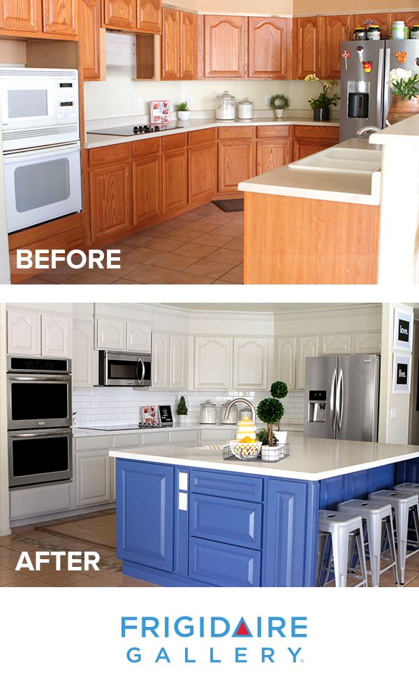 We love how @jennyflake transformed her kitchen! With painted cabinets, new countertops, backsplash, and Smudge-Proof stainless steel appliances, her space is now brighter and more efficient than ever. Click to view the Frigidaire Gallery appliance collection.
