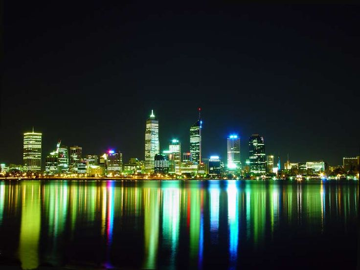 Perth, Australia    As the cities population grows, so does its skyline. While Perth is relatively small, its skyline is amazing with night lighting and gorgeous water reflections