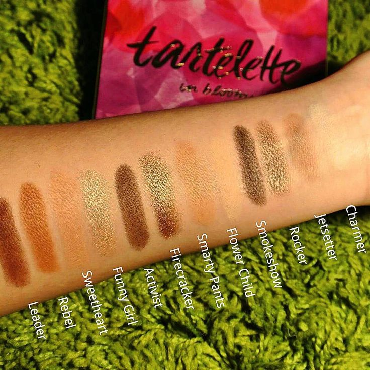 A swatch of the new Tartelette in Bloom by TARTE ❤💄💄💋👄 Don't forget to check us out on our Youtube channel KIKI&COCO