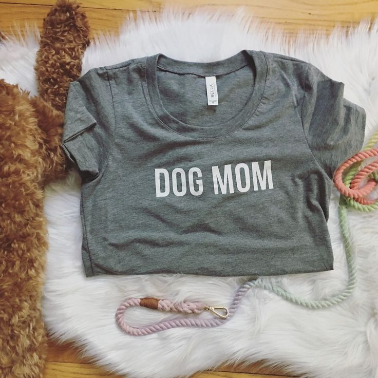 Dog Mom Triblend Gray Heather T-shirt