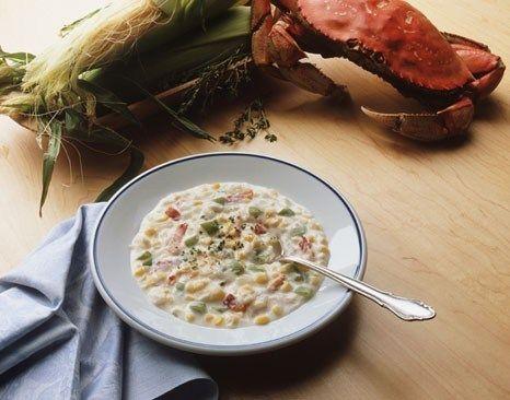 Суп из крабов и сладкой кукурузы по-китайски