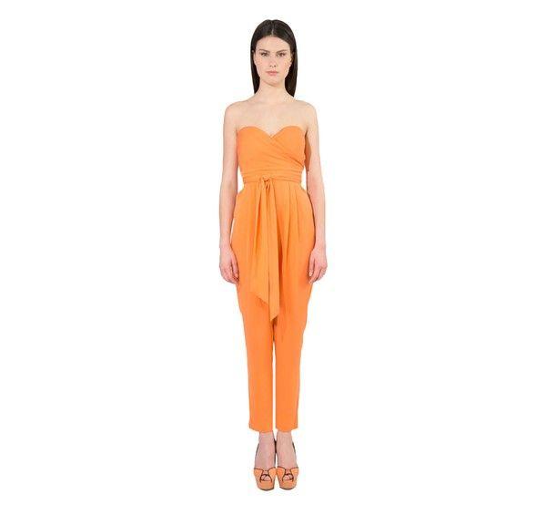 Catherine Malandrino Strapless Belted Jumpsuit Modewalk