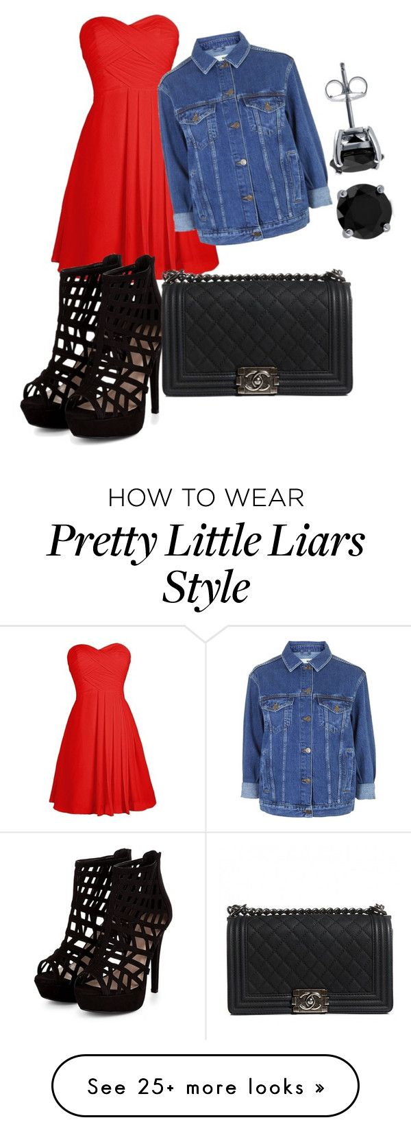 """Get the look for Alison DiLaurentis- pretty little liars"" by pretty-little-liars-style101 on Polyvore featuring Topshop, Chanel and BERRICLE"